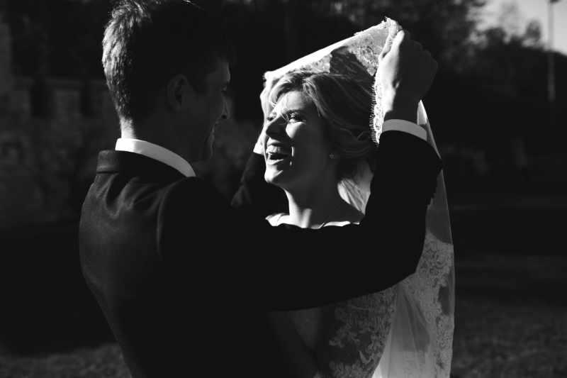 Edición de fotos de boda en Blanco y Negro